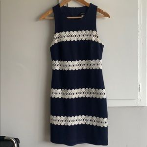 Women's Navy Blue with Lace dress